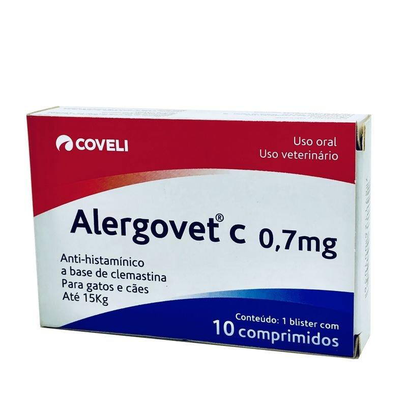 Alergovet C Antialérgico 0,7 mg Coveli 10 Comprimidos