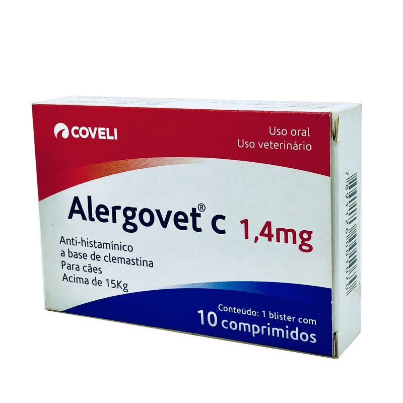 Alergovet C Antialérgico 1,4 mg Coveli 10 comprimidos