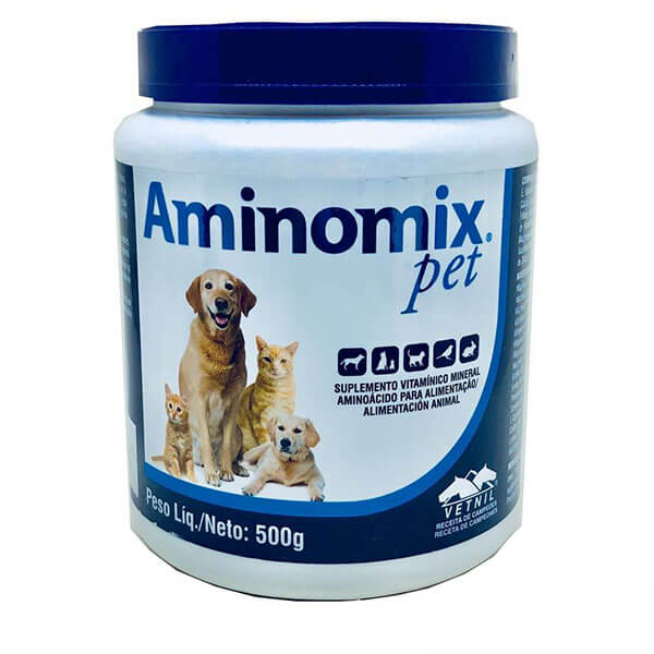 Aminomix Pet Suplemento Alimentar 500 g Vetnil