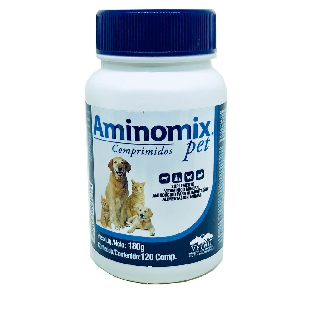 Aminomix Suplementos Pet 120 Comprimidos Vetnil