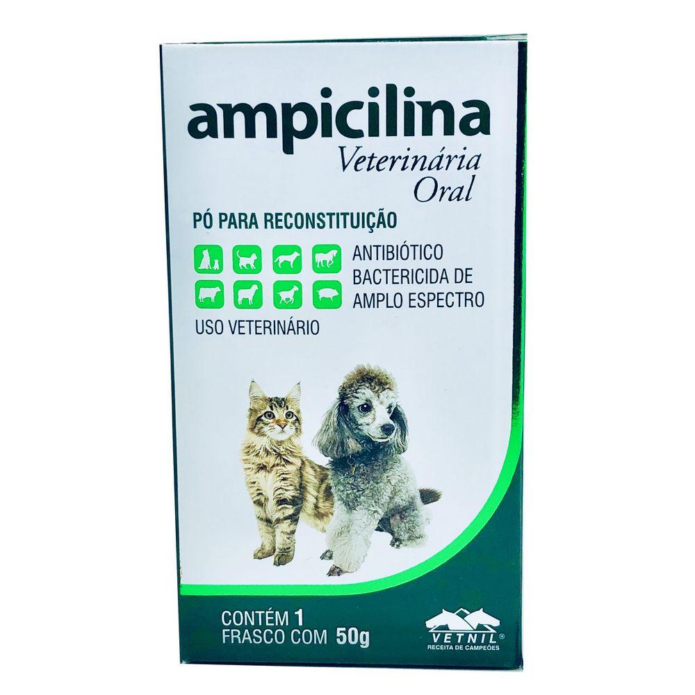 Ampicilina Veterinária Oral 50 g Vetnil