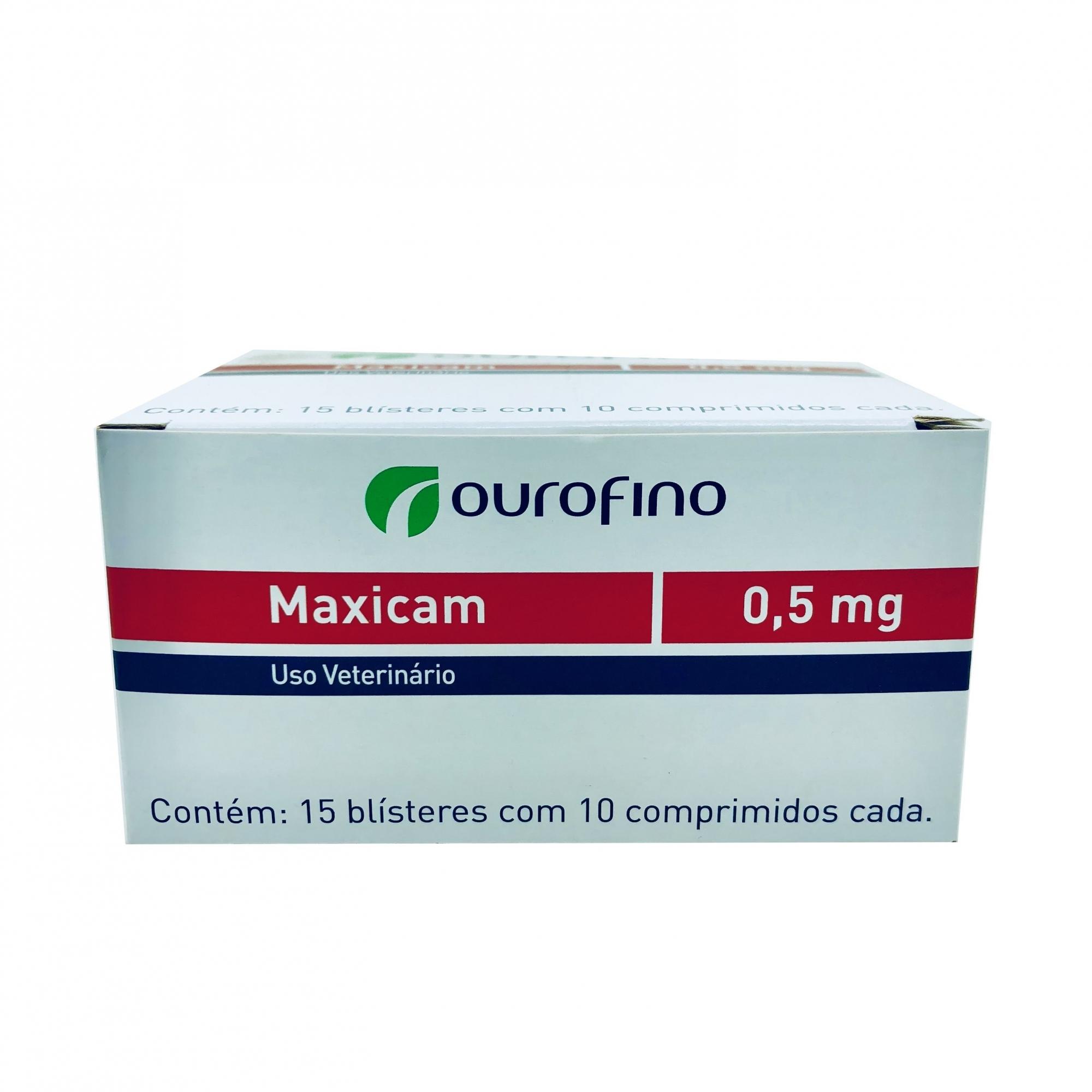 Anti-inflamatório Maxicam 5 mg Ourofino - 10 Comprimidos