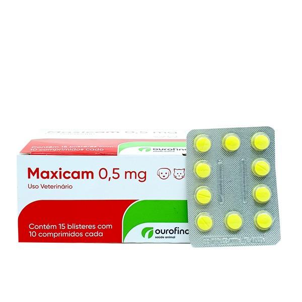 Anti-inflamatório Maxicam 5 mg Ourofino - Cartela Avulsa Com 10 Comprimidos