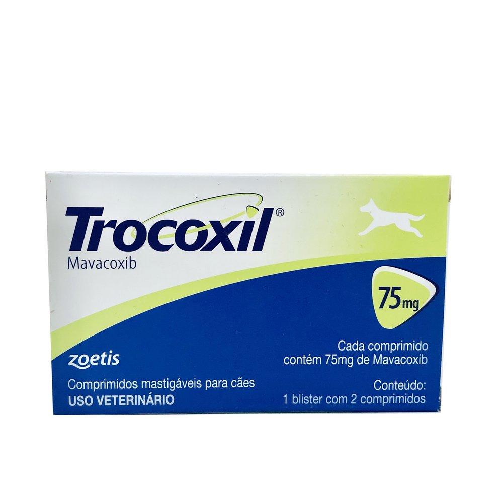 Anti-inflamatório Trocoxil Zoetis75 mg 2 comprimidos