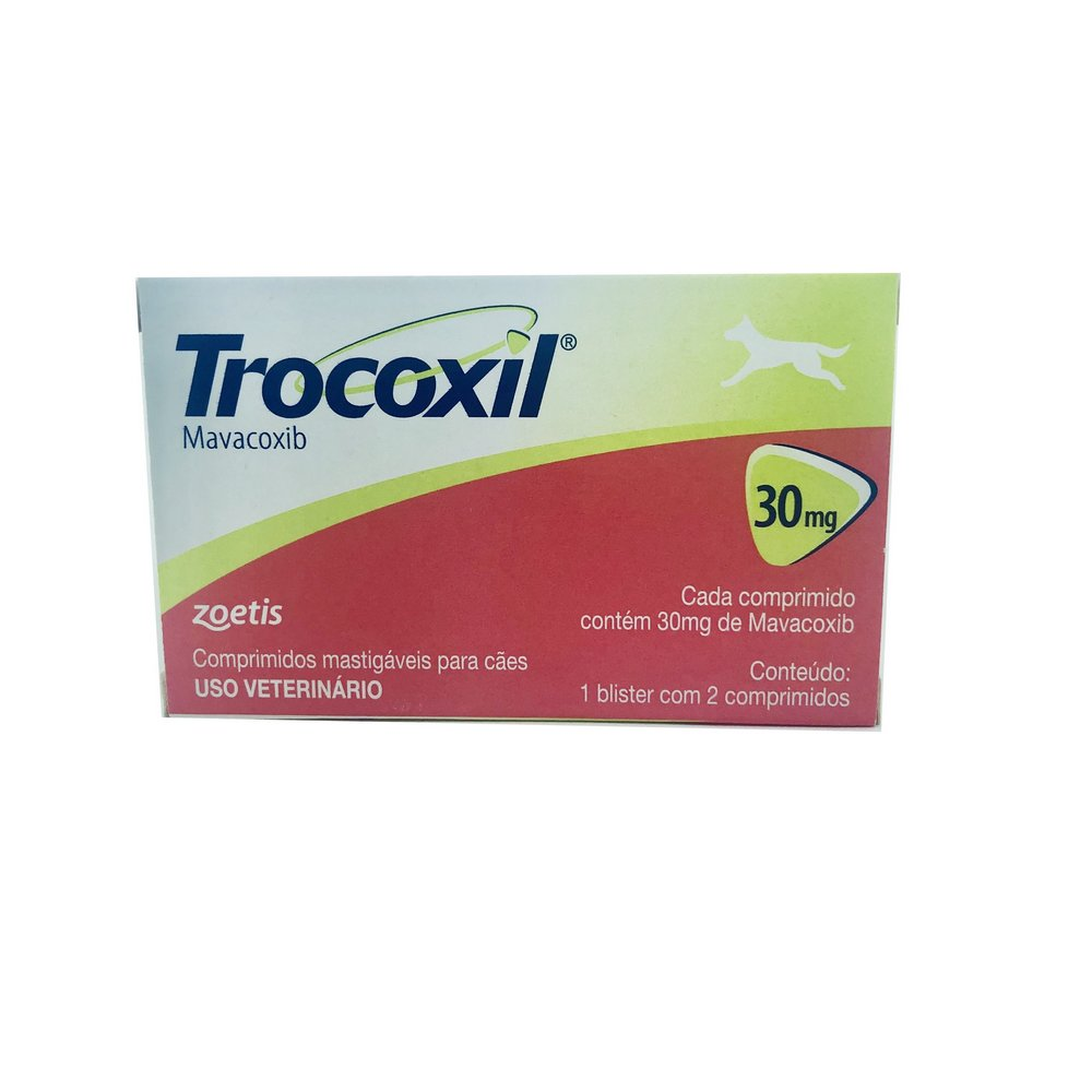 Anti-inflamatório Trocoxil Zoetis 30 mg 2 Comprimidos