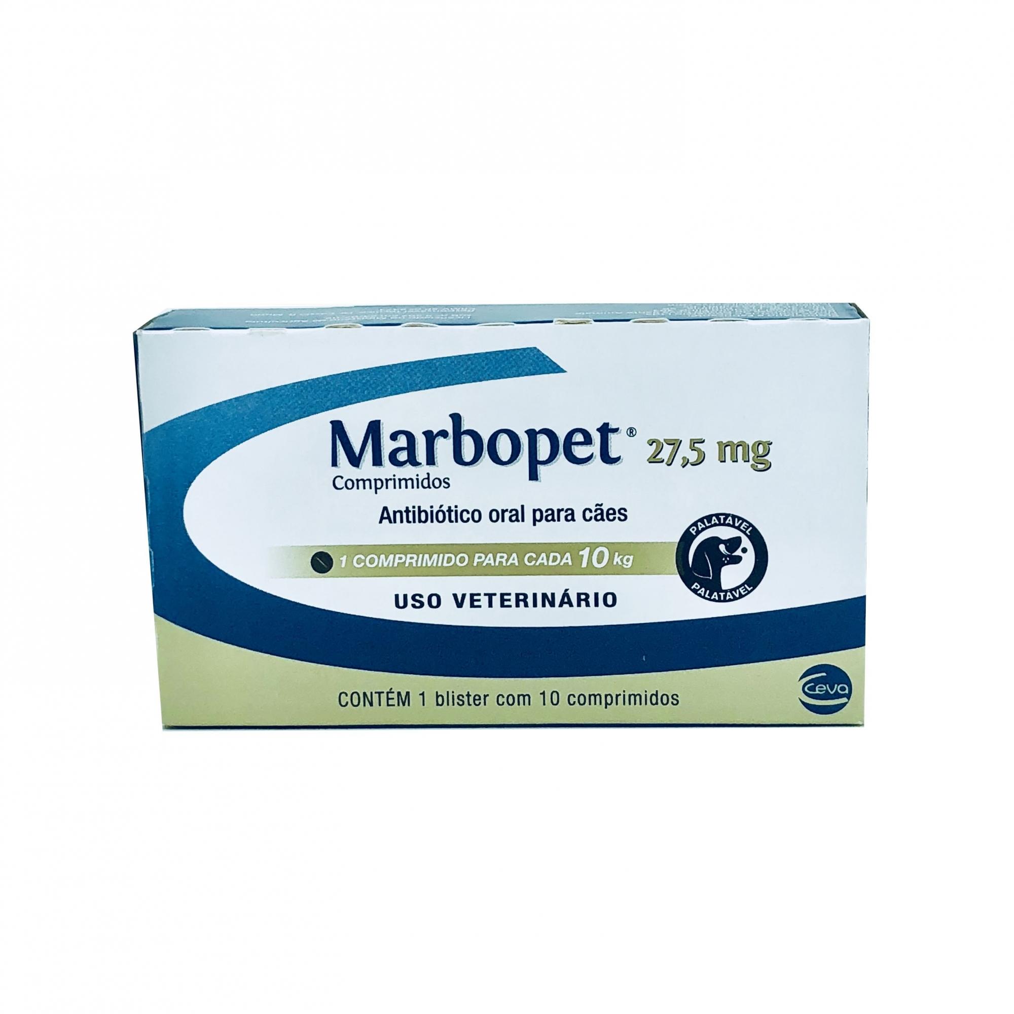 Antibiótico Marbopet 27,5 mg Ceva 10 Comprimidos