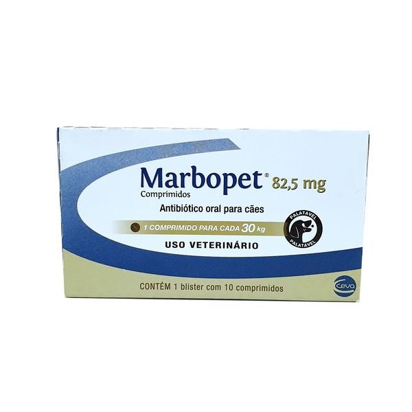 Antibiótico Marbopet 82,5mg Ceva 10 comprimidos