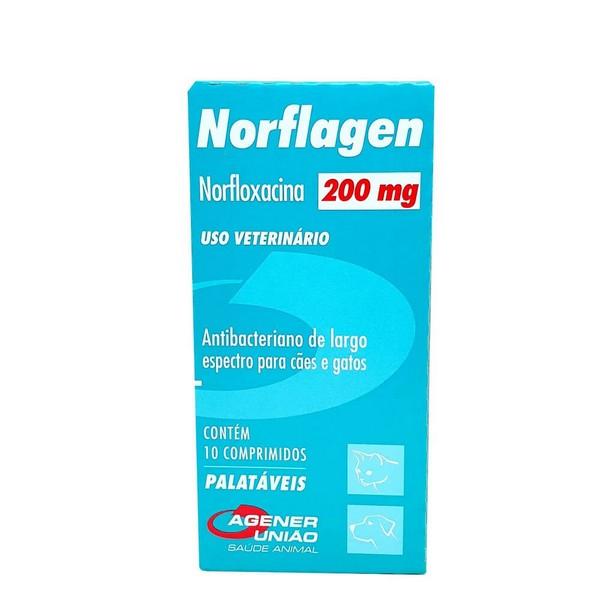 Antibiótico Norflagen Agener União 200 mg - 10 Comprimidos