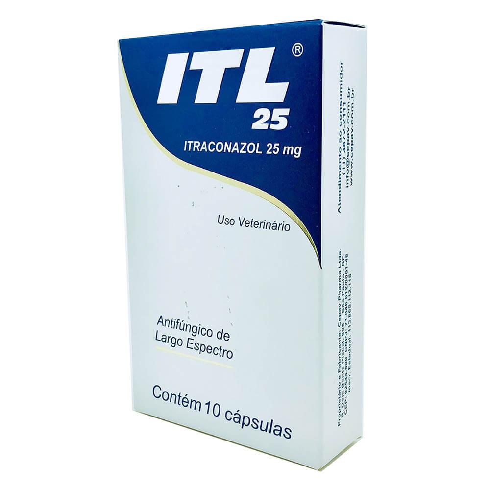 Antifúngico de Largo Espectro ITL Cepav 25 mg - 10 Comprimidos