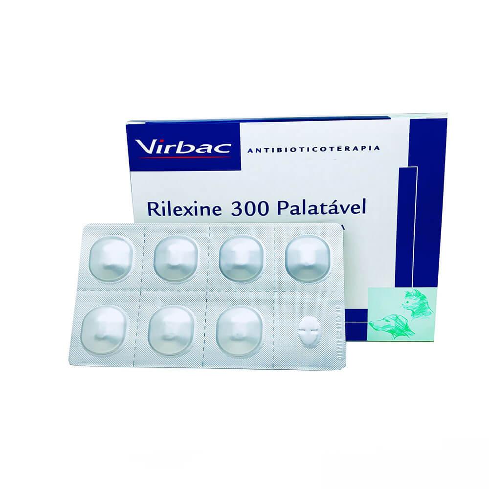 Antimicrobiano Rilexine Palatável Virbac 300 mg 7 Comprimidos