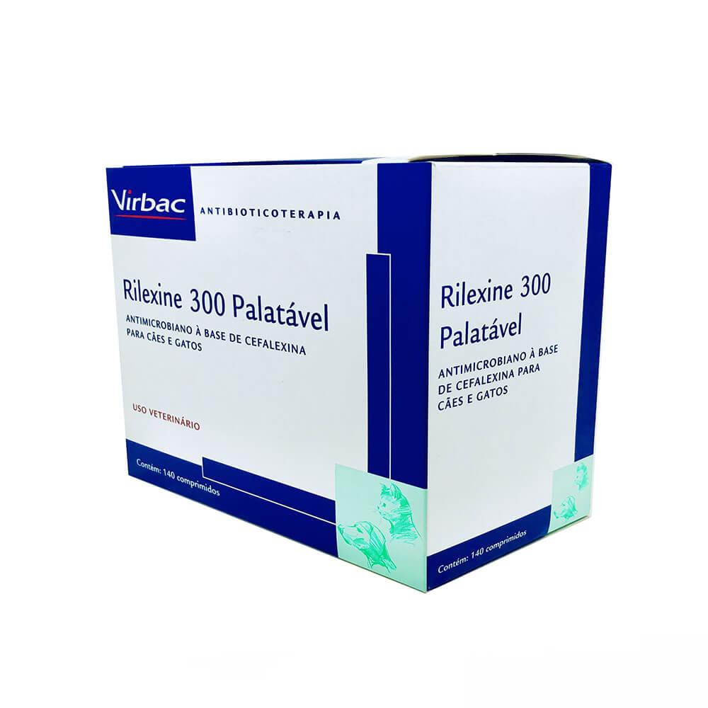 Antimicrobiano Rilexine Palatável Virbac 300 mg Cartela Avulsa com 7 Comprimidos