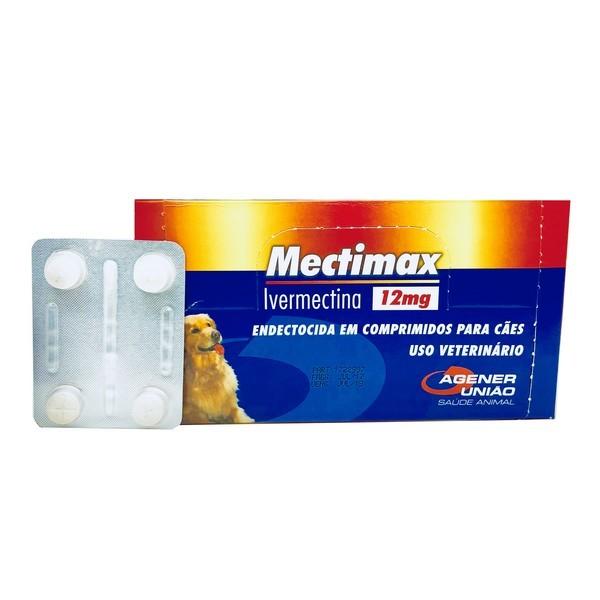 Antiparasitário Mectimax 12 mg Agener União Cartela Avulsa Com 4 Comprimidos
