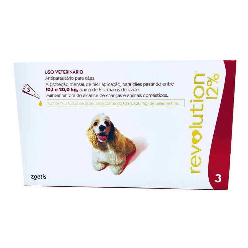 Antiparasitário Revolution 12% Cães 10,1 a 20 kg Zoetis