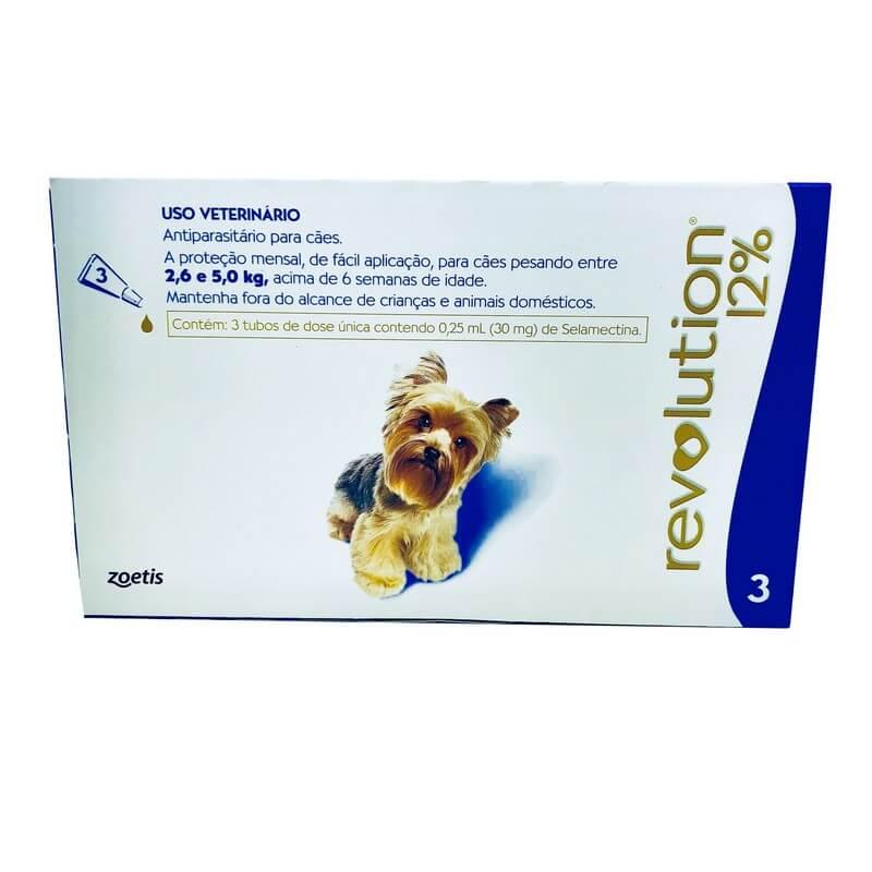 Antiparasitário Revolution 12% Cães 2,6 a 5 kg Zoetis