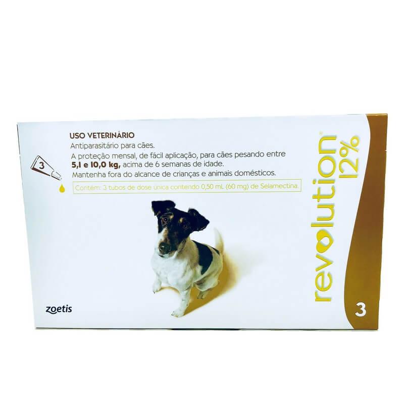 Antiparasitário Revolution 12 Cães 5,1 a 10 kg Zoetis