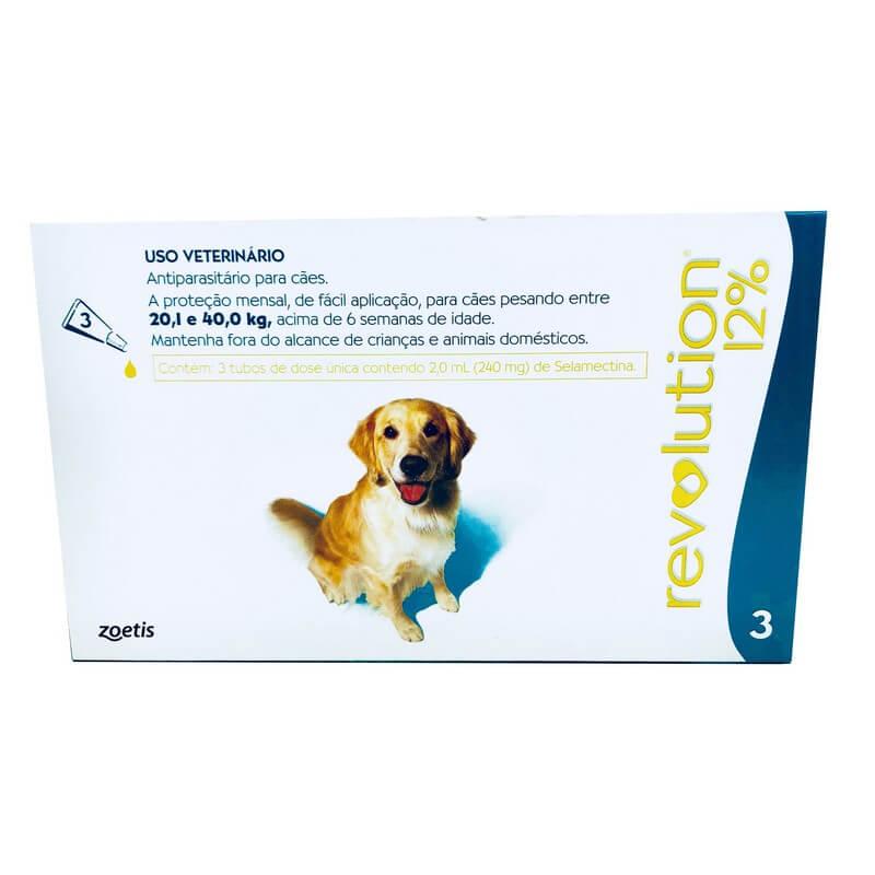 Antiparasitário Revolution 12% Cães de 20 a 40 kg Zoetis