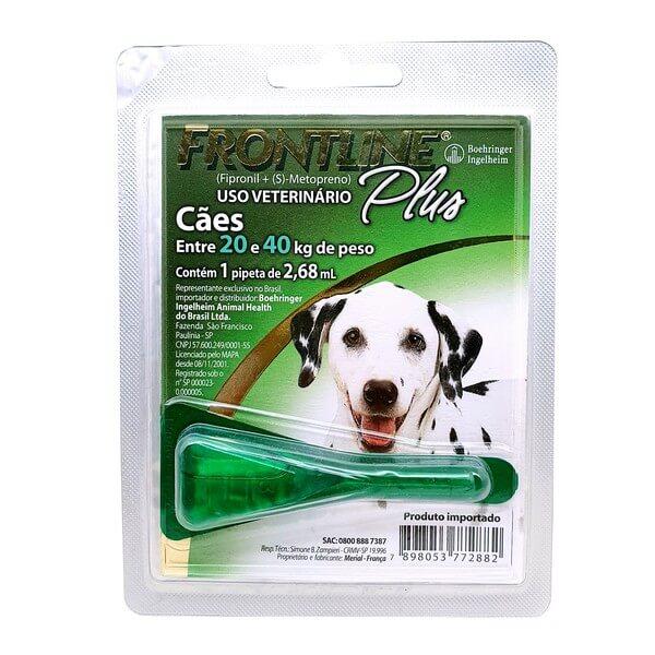 Antipulga e Carrapaticida Frontline Plus Cães de 20 a 40kg