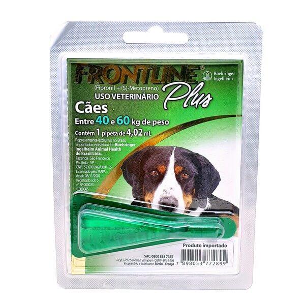 Antipulga e Carrapaticida Frontline Plus Cães de 40 a 60kg