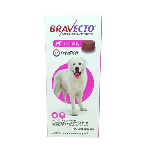 Antipulga e Carrapato Bravecto Cães 40 a 56 kg