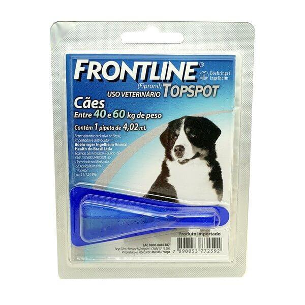 Antipulga e Carrapato Frontline Topspot Cães de 40 a 60kg