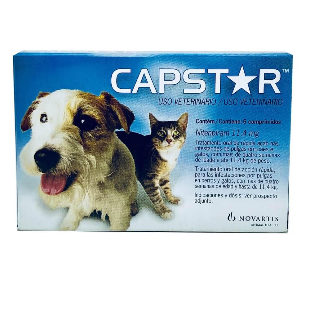 Antipulgas Capstar 11,4mg Elanco Cães e Gatos 6 Comprimidos