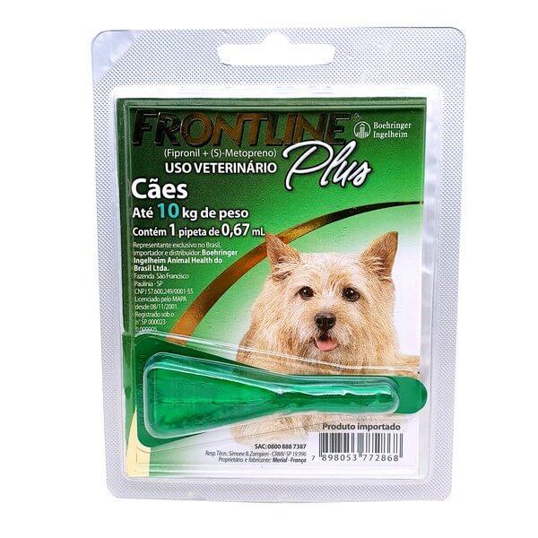 Antipulgas e Carrapaticida Frontline Plus Cães de 1 a 10kg