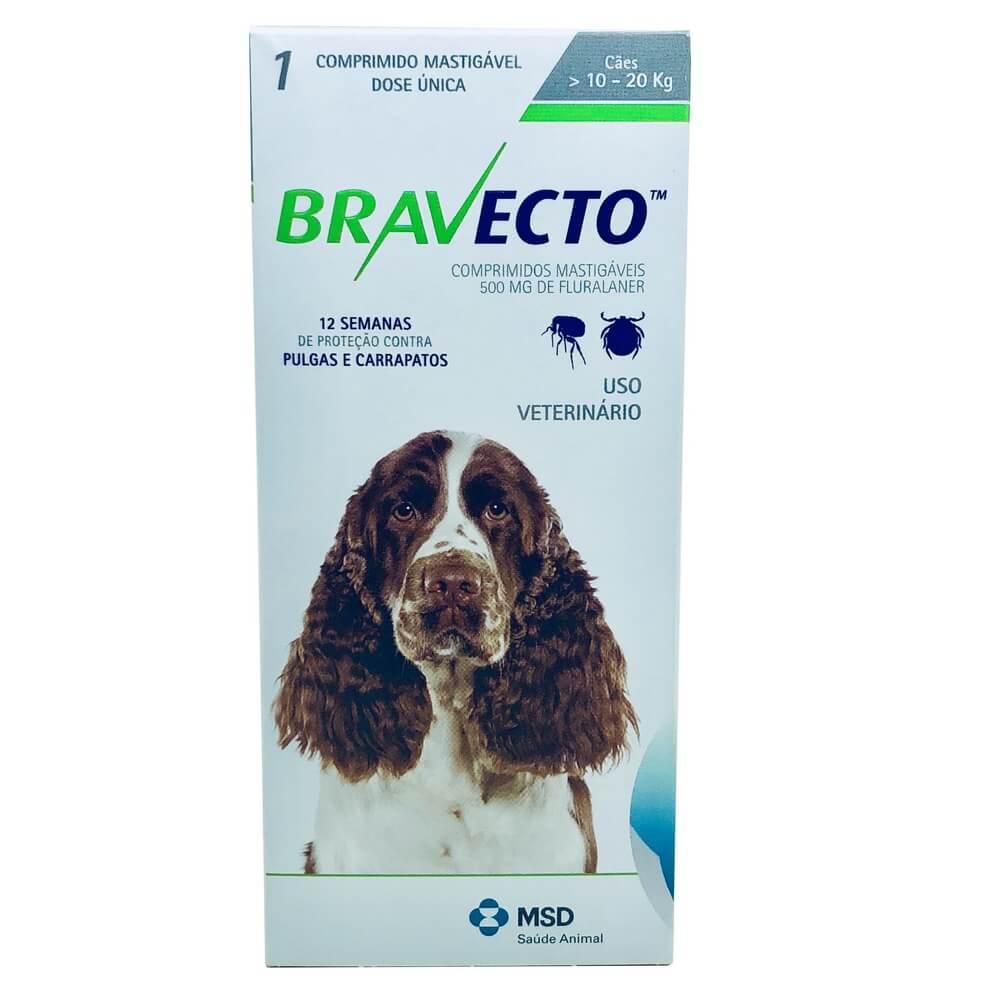 Antipulgas e Carrapatos Cães Bravecto MSD de 10 a 20 kg