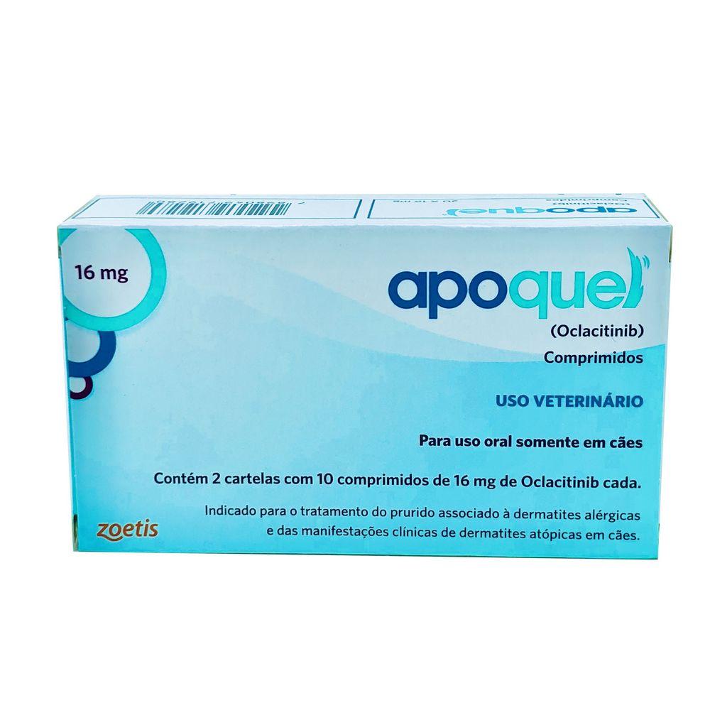 Apoquel Dermatológico 16 mg Zoetis 20 comprimidos