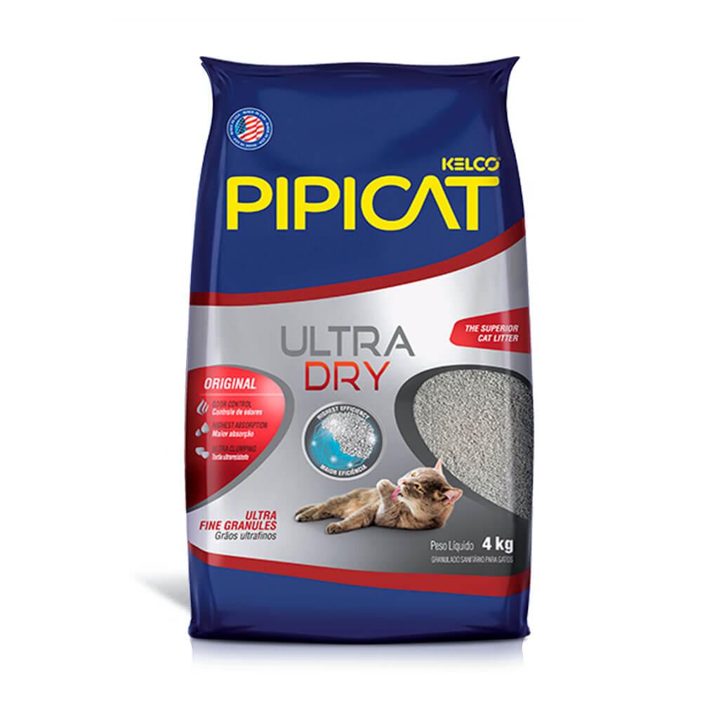 Areia Higiênica Pipicat Ultra Dry Kelco 4Kg