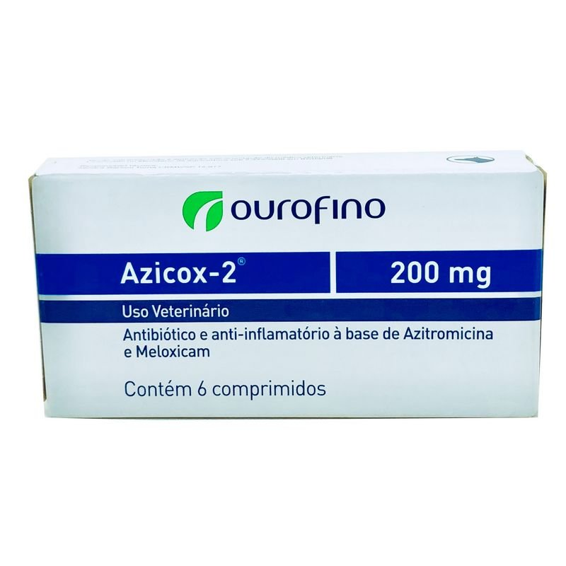 Azicox-2 200 mg Ourofino 6 Comprimidos