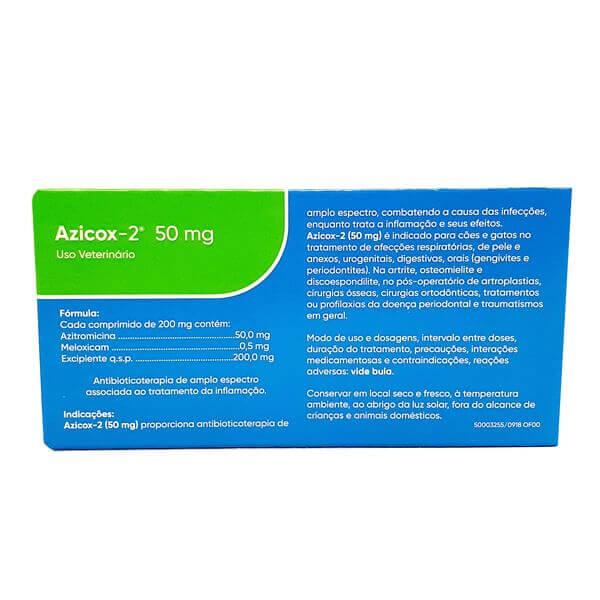 Azicox-2 50 mg Ourofino 6 Comprimidos