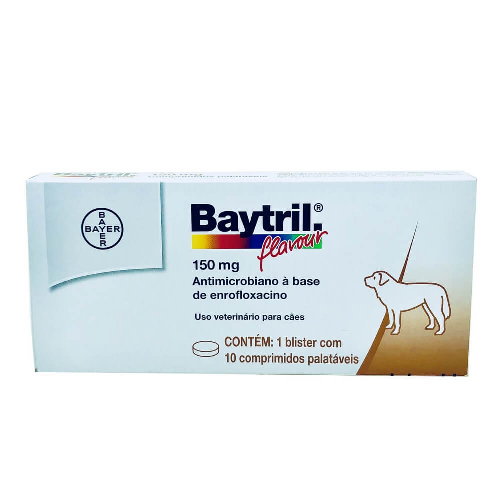 Baytril Flavour 150mg Bayer 10 comprimidos