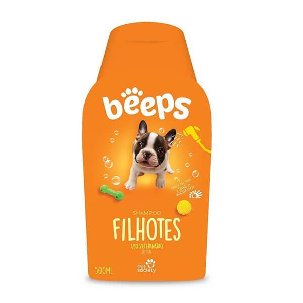 Beeps Shampoo Cães e Gatos Filhotes Pet Society 500ml