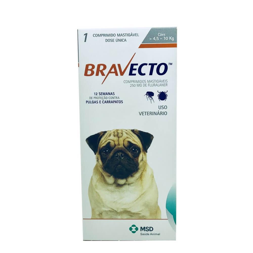 Bravecto Antipulgas e Carrapatos Cães de 4,5 a 10 kg