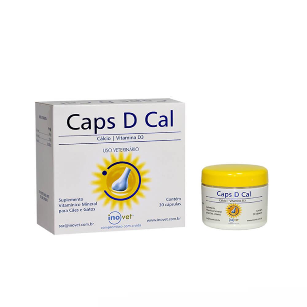 Caps D Cal Suplemento Vitamínico Inovet 30 Caps