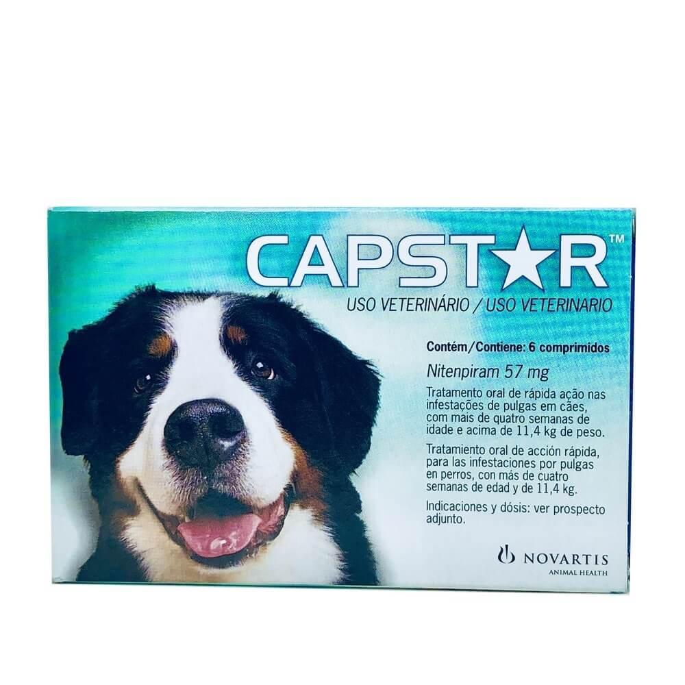 Capstar 57mg Antipulgas para Cães Elanco 6 Comprimidos