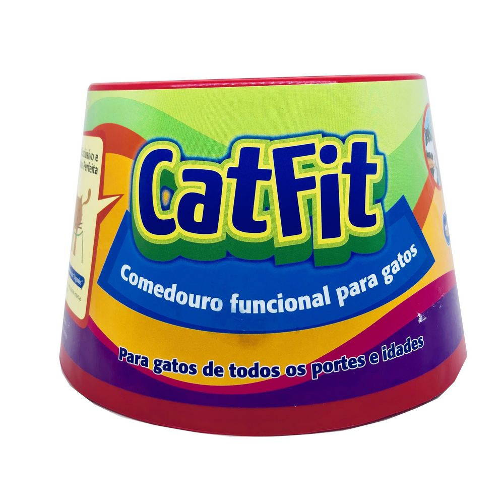 Cat Fit Comedouro Para Gatos Pet Games Vermelho