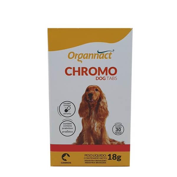 Chromo Dog Tabs Suplemento Alimentar Organnact 30 Tabletes