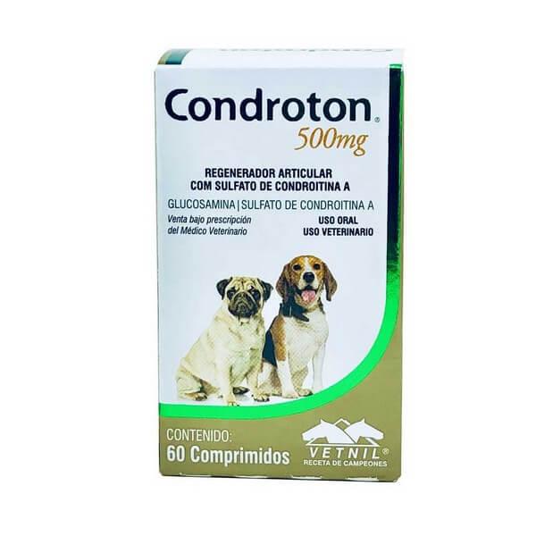 Condroton Regenerador Articular para Cães e Gatos Vetnil 500mg 60 Comprimidos