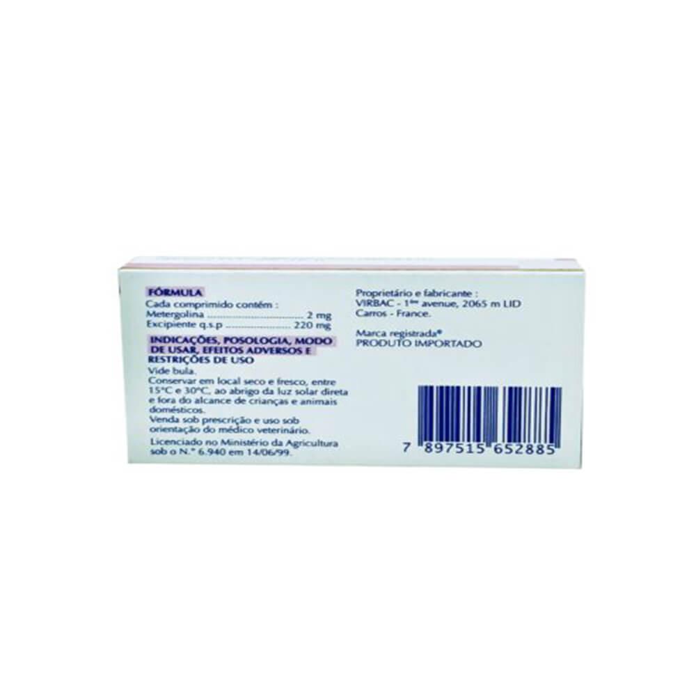 Contralac 20 Virbac Antilactação Cadelas e Gatas 16 Comprimidos