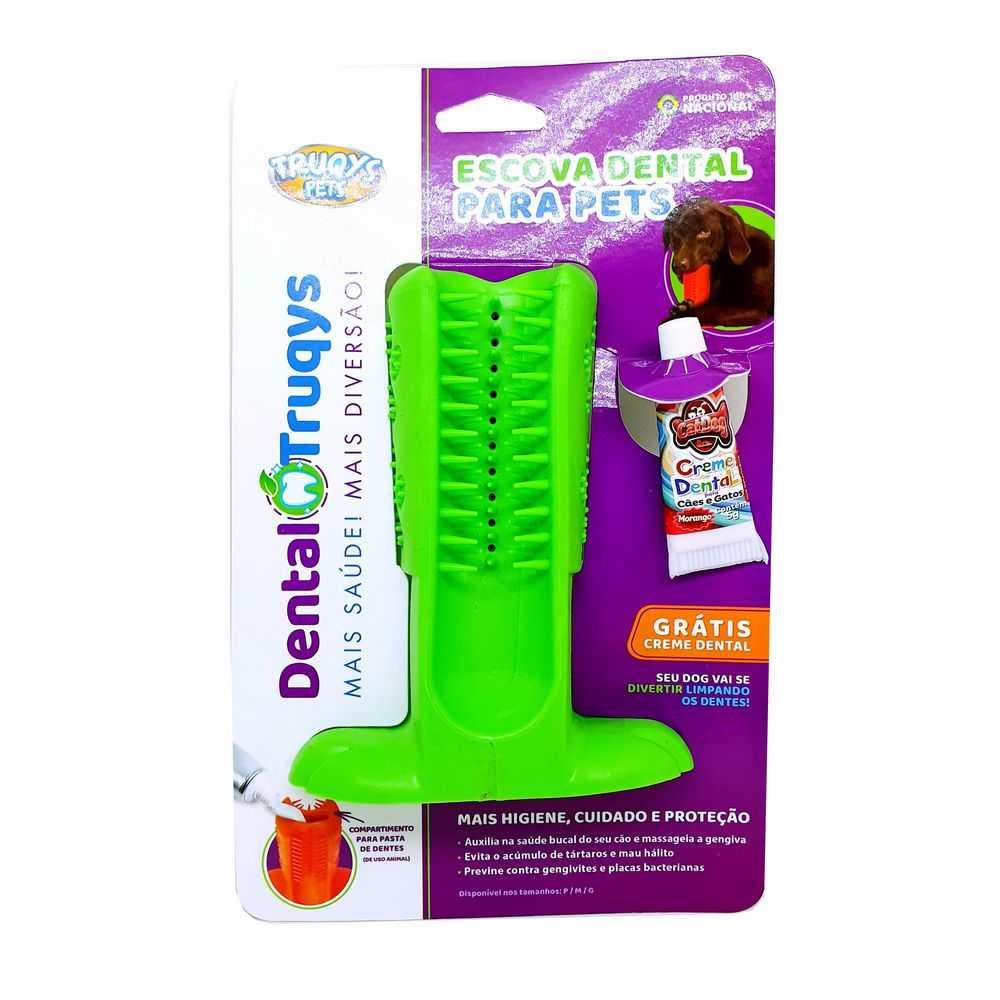 Dental Escova Grande Truqys Para Cães Cor Verde