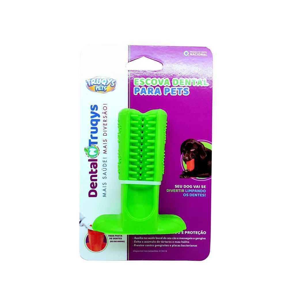 Dental Escova Pequena Truqys Para Cães Cor Verde