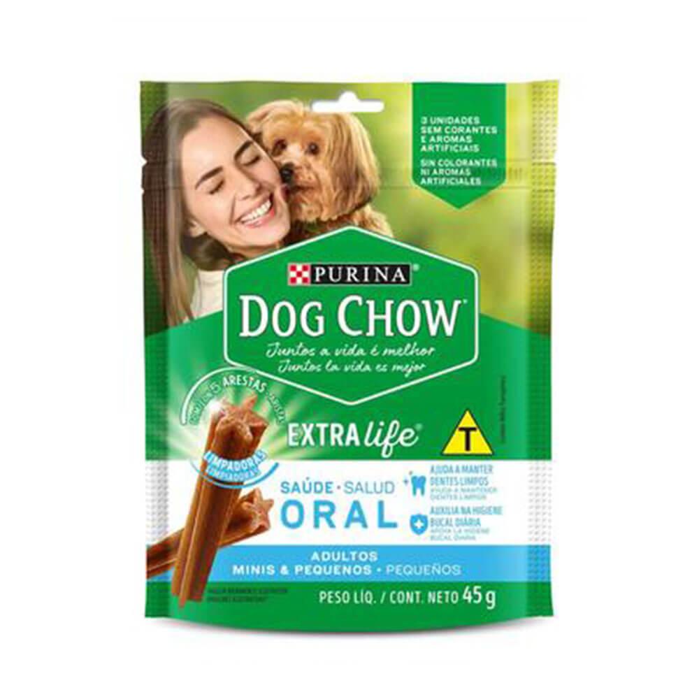 Dog Chow Petisco Saúde Oral Cães Adultos Mini e Pequenos Purina 45g