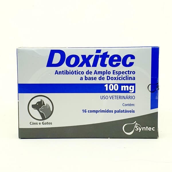 Doxitec Antibiótico Syntec 100mg 16 Comprimidos
