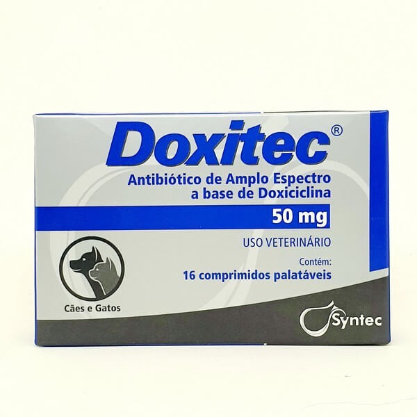 Doxitec Syntec Antibiótico 50mg 16 Comprimidos