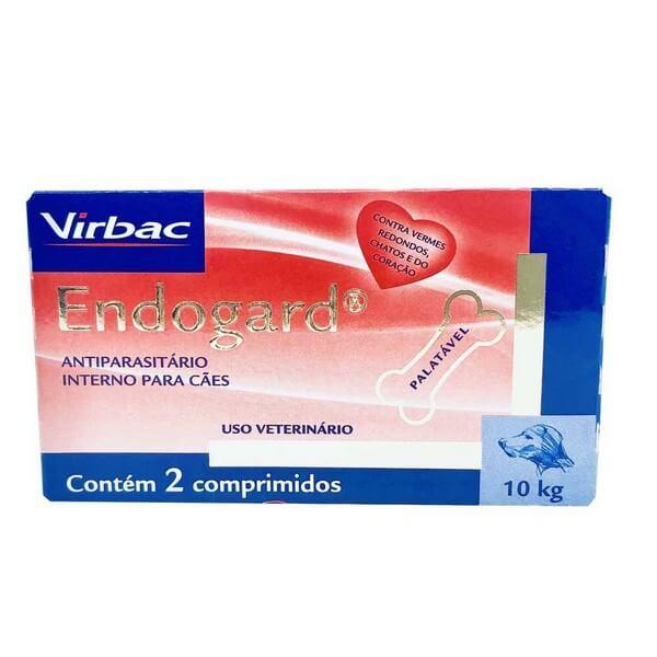 Endogard Vermífugo Virbac 10kg 2 Comprimidos