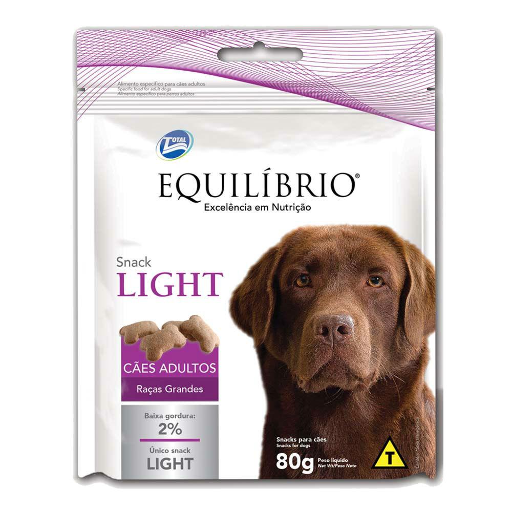 Equilíbrio Snack Light Cães Adultos Raças Grandes 80 g
