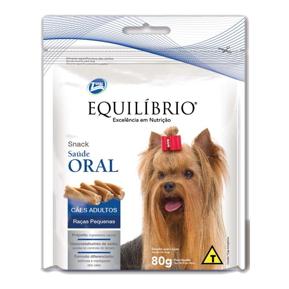 Equilibrio Snack Saúde Oral Cães Pequenos 80 g