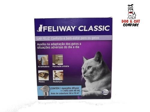Feliway Classic Difusor Elétrico Ceva + Refil 48 ml