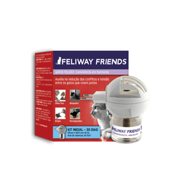 Feliway Friends Gatos Difusor e Refil Ceva 48 ml